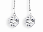 Antique-cut diamond <br>earrings